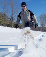 Free family snowshoeing at Family Day.