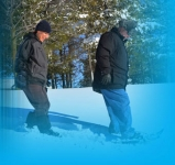 Friends of the South Huron Trail snowshoeing at WinterFest