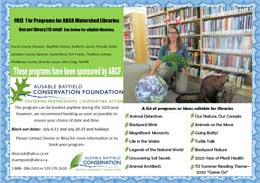 Conservation education programs may be coming soon to a library near you.