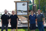 Ailsa Craig, partners install turtle sign at park
