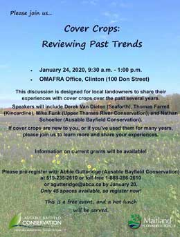 Pre-register by January 20 for January 24 Cover Crops meeting.