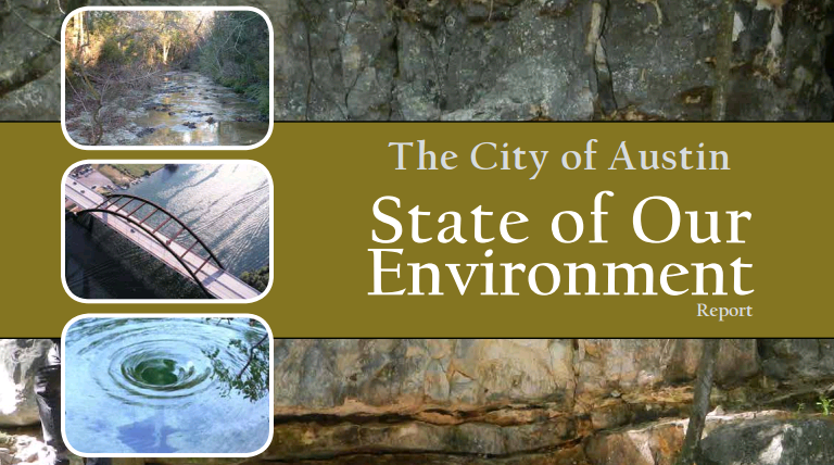 Cover of City of Austin State of Our Environment Report.