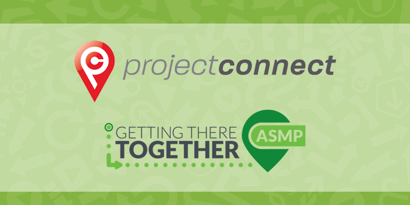 project connect and asmp logos on a green background