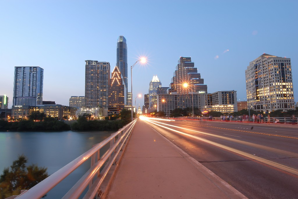 Image of Congress Avenue (Anne Richards) bridge