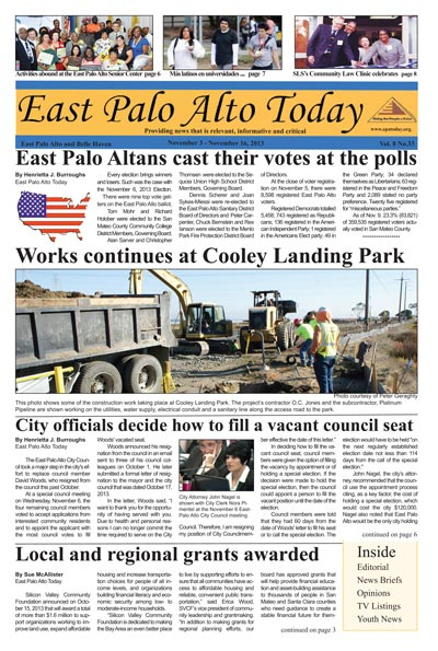 Photo of  EPA Today Novmber 3, 2013 - November 16, 2013 edition