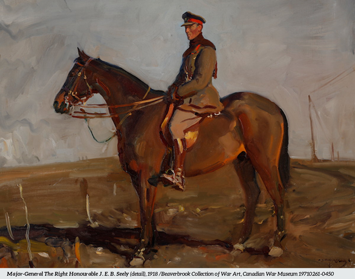 Painting of Maj General Jack Seely and horse Warrior