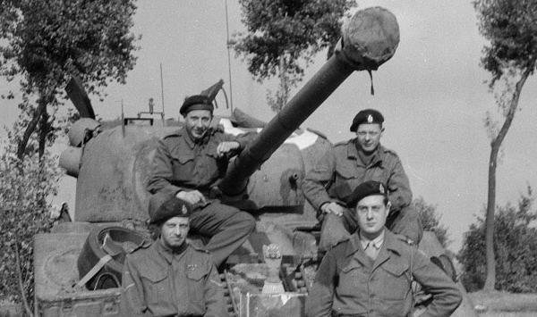 Men on a tank