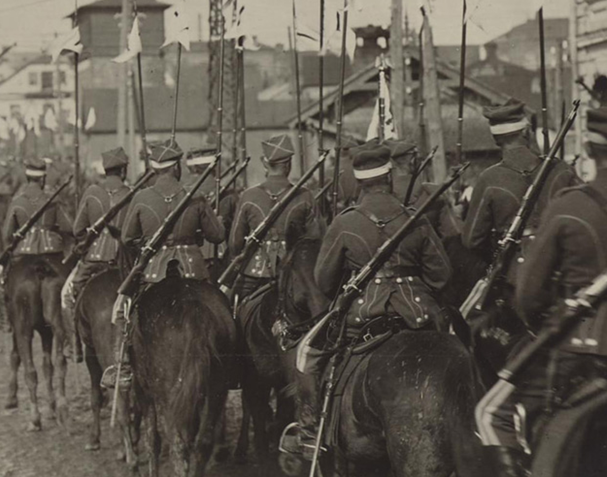 Photo of soldiers on horseback