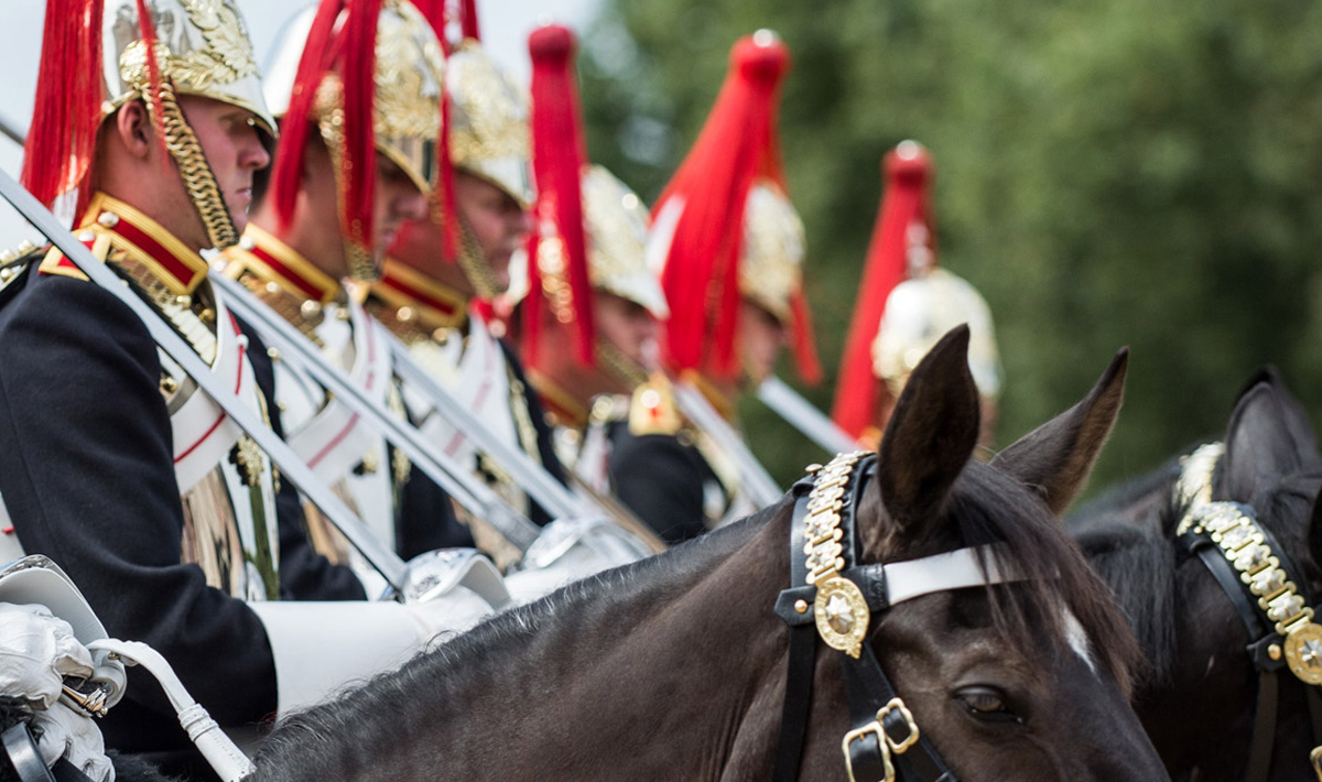 Her Majesty's Cavalry mounted and in uniform