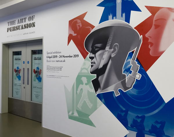 Entrance to the Abram Games exhibition