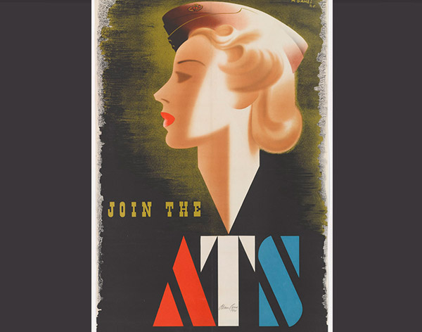 Abram Games's wartime recruitment poster for the ATS