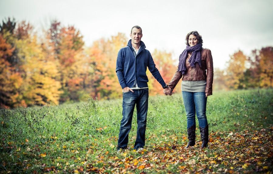 Fall Engagement Session on Modern Jewish Wedding