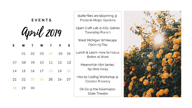 Click on image to access individual events