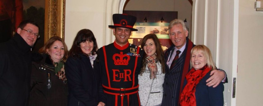 Employers meet Yeoman Warder at Tower of London