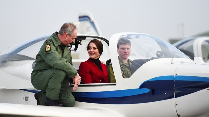 Duchess visits RAF Wittering