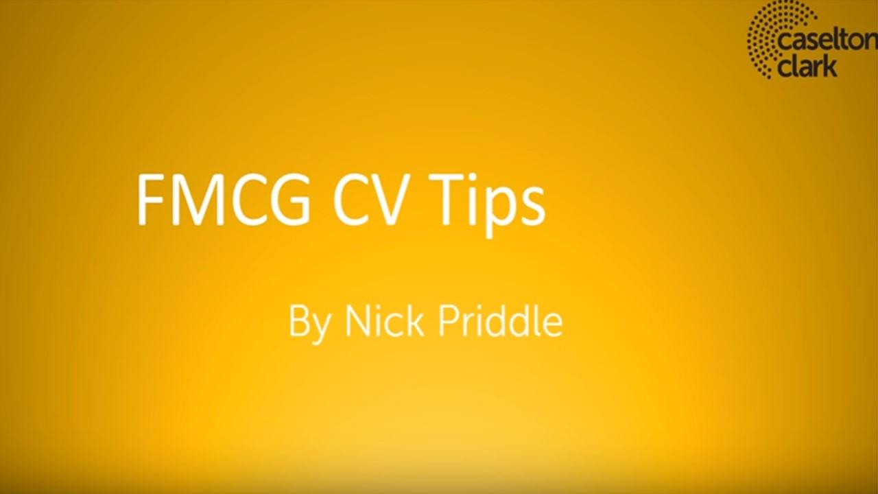 FMCG CV Advice