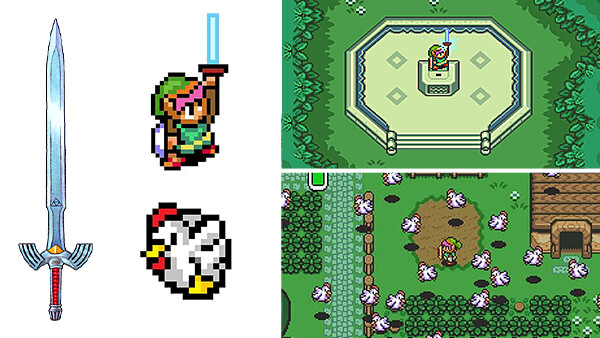 Reference image collection from SNES Zelda: A Link To The Past