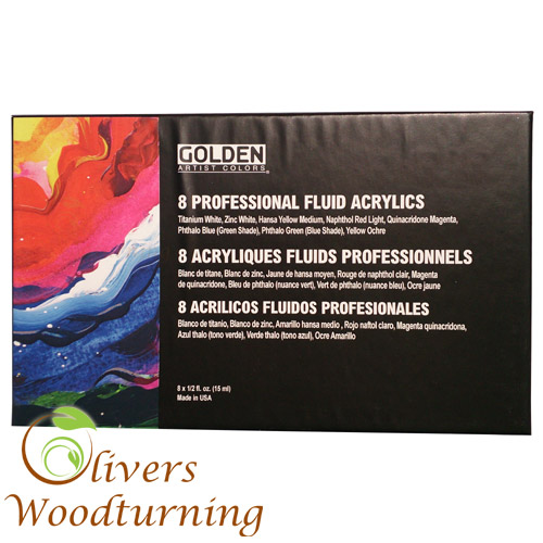 Golden Artist Colors Professional Fluid Acrylics 8 Pack