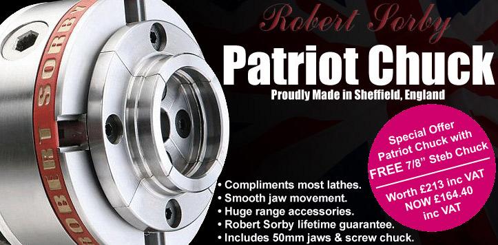 RSPC Robert Sorby Patriot Chucks + Free Steb Chuck