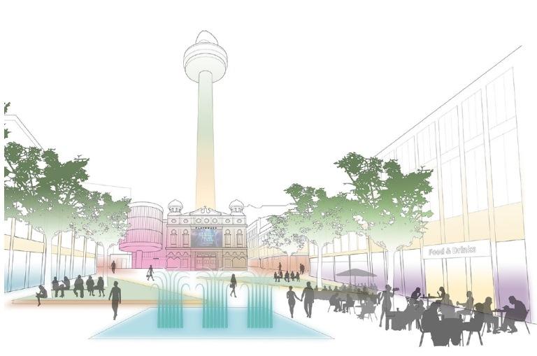 Artists impression of potential Williamson Square design