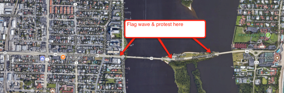 Citizens First Counter Demonstration Tuesday, Nov. 21, 2017 from 11AM-3PM in Palm Beach