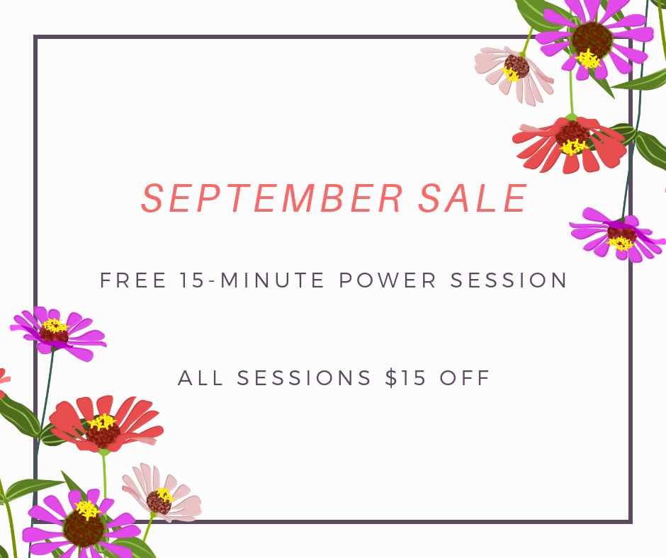 15% off Soul Stewardship Sessions for September
