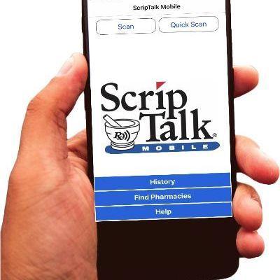 iPhone with ScripTalk Mobile app