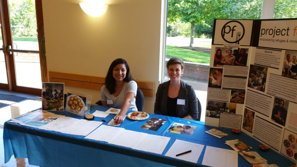 Tabling at local Tukwila Community Center Resource Fair