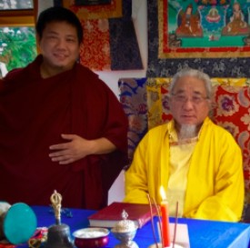 Ratna Rinpoche and Lho Ontul Rinpoche from Tibet in Canada