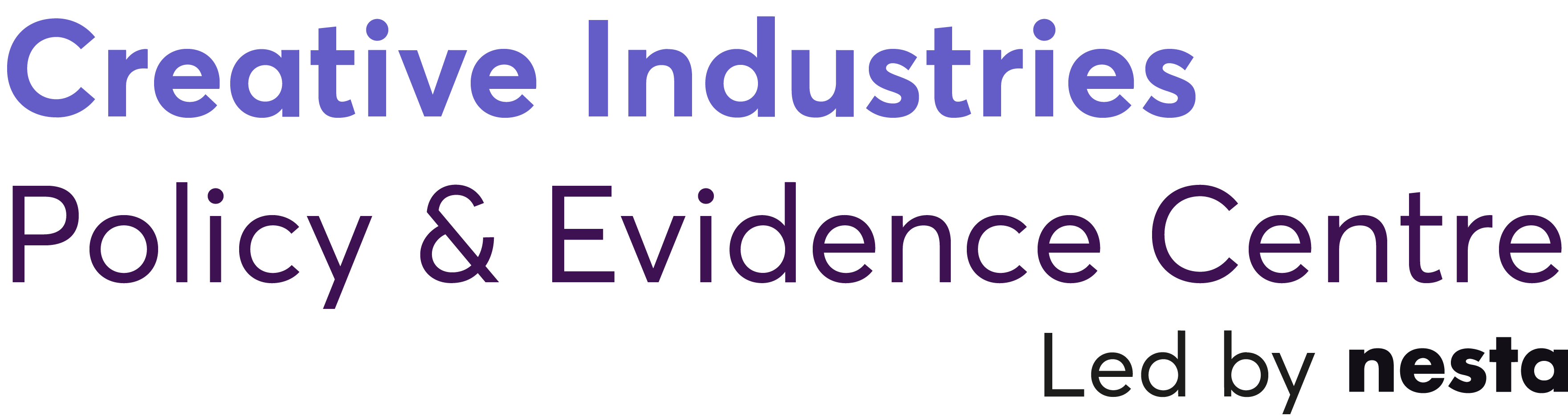 Creative Industries Policy & Evidence Centre Led by Nesta