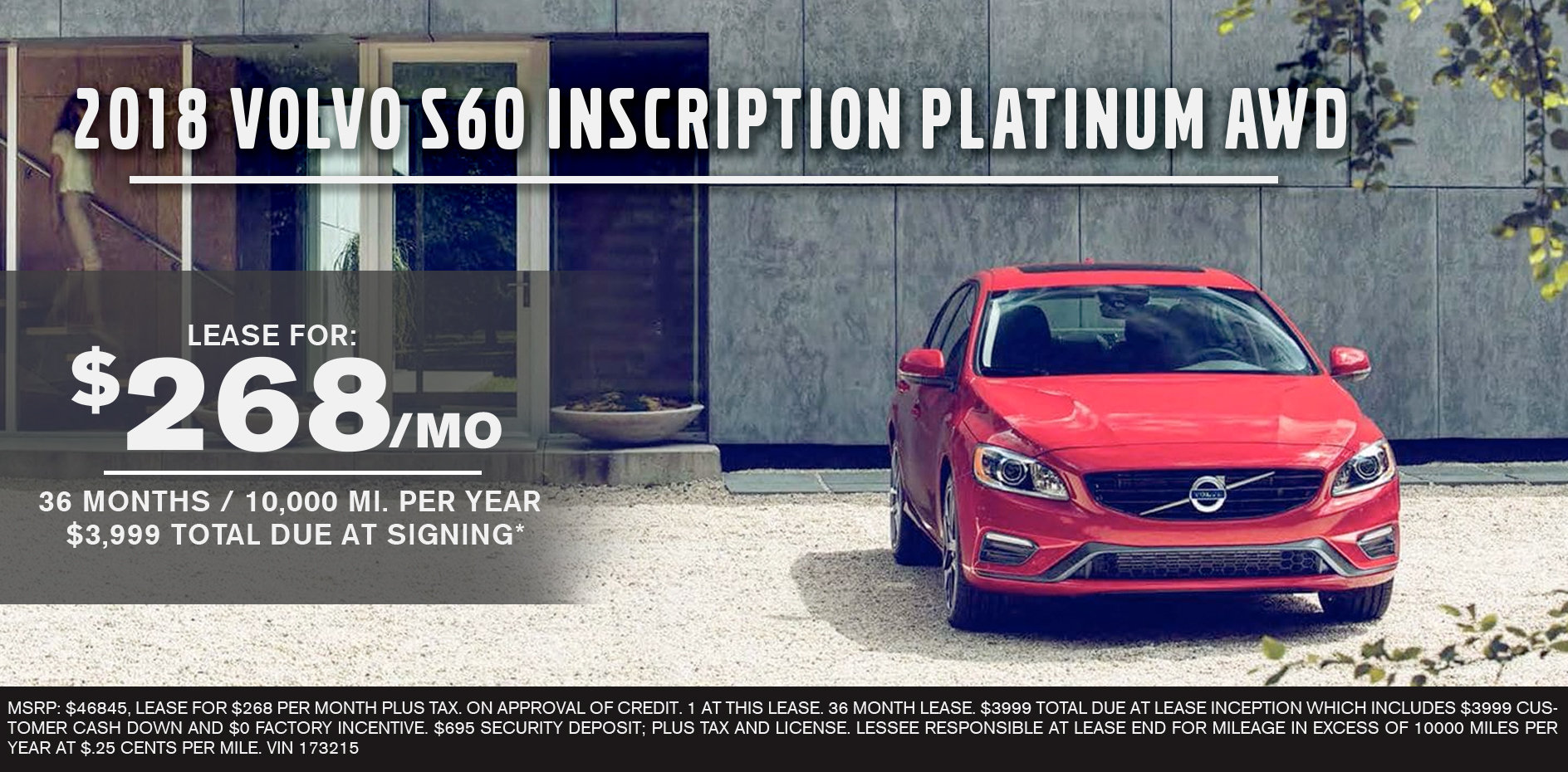 2018 Volvo S60 Inscription Platinum AWD