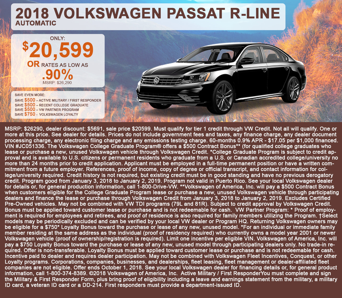 2018 Volkswagen Passat R-Line Automatic