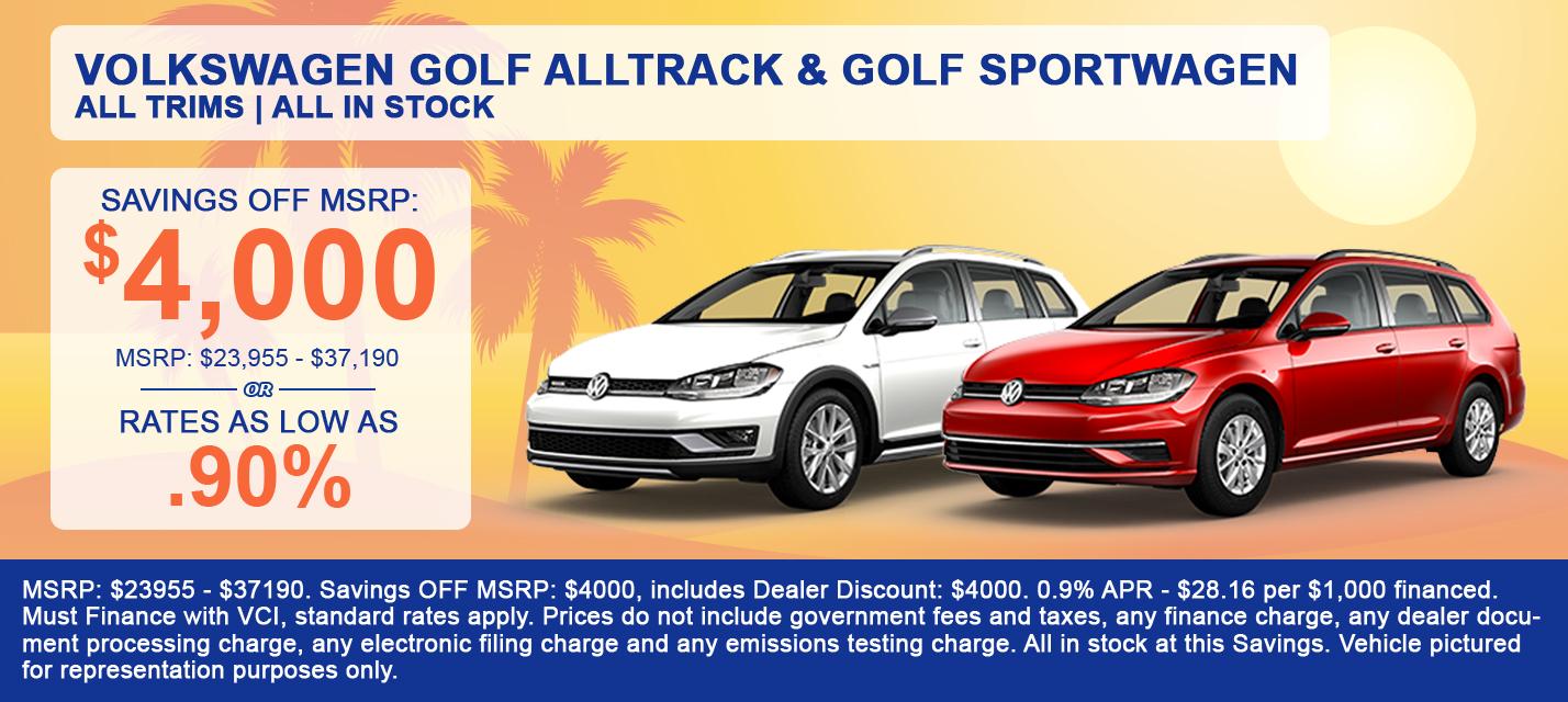 Volkswagen Golf Alltrack & Golf SportWagen