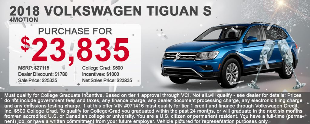 2018 Volkswagen Tiguan S 4Motion