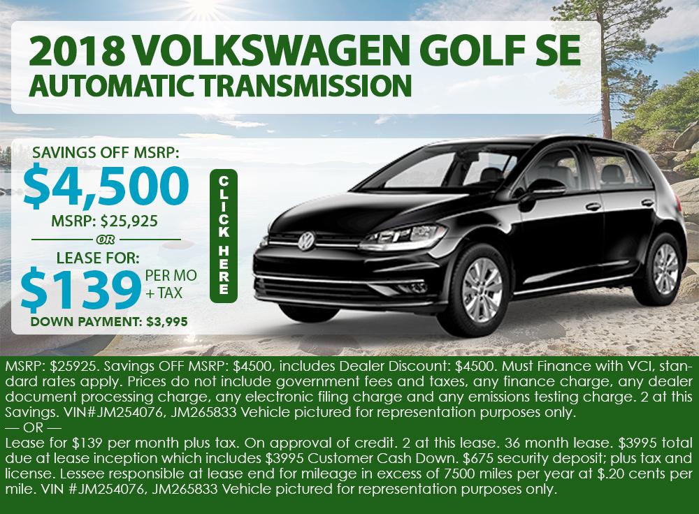 2018 Volkswagen Golf SE Automatic Transmission