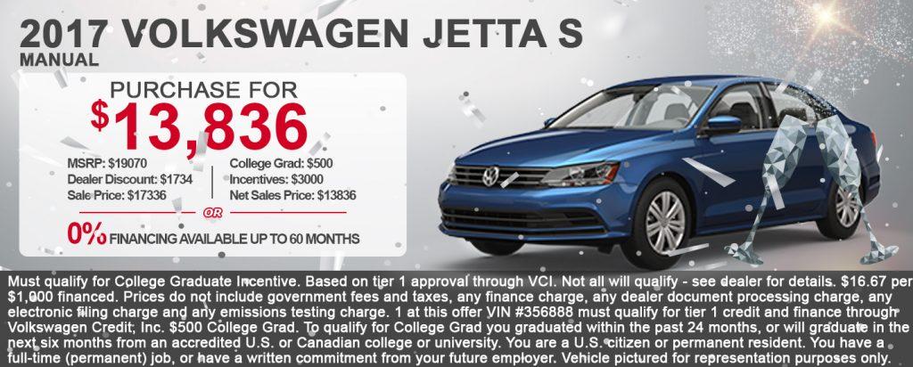 2017 Volkswagen Jetta S Manual