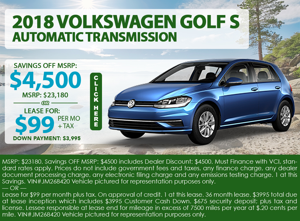 2018 Volkswagen Golf S Automatic Transmission