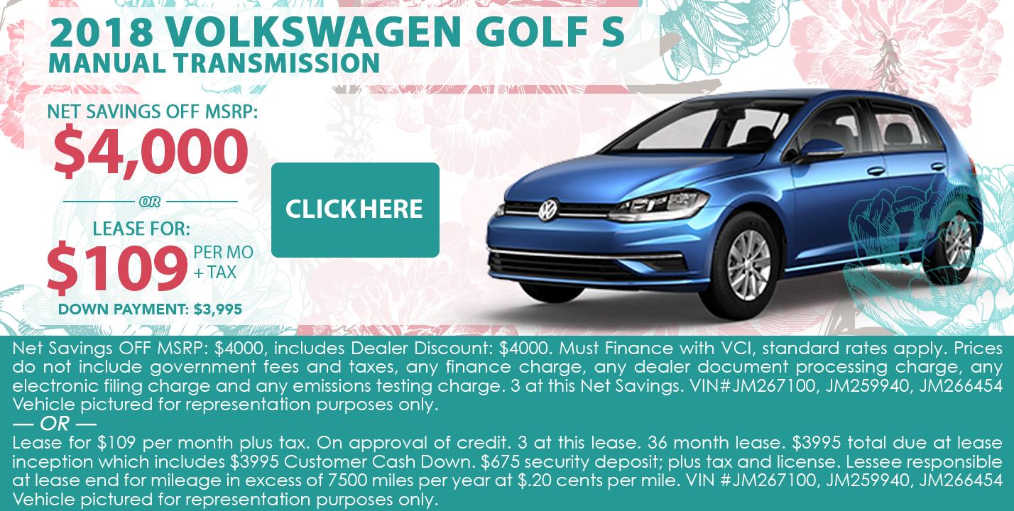 2018 Volkswagen Golf S Manual Transmission