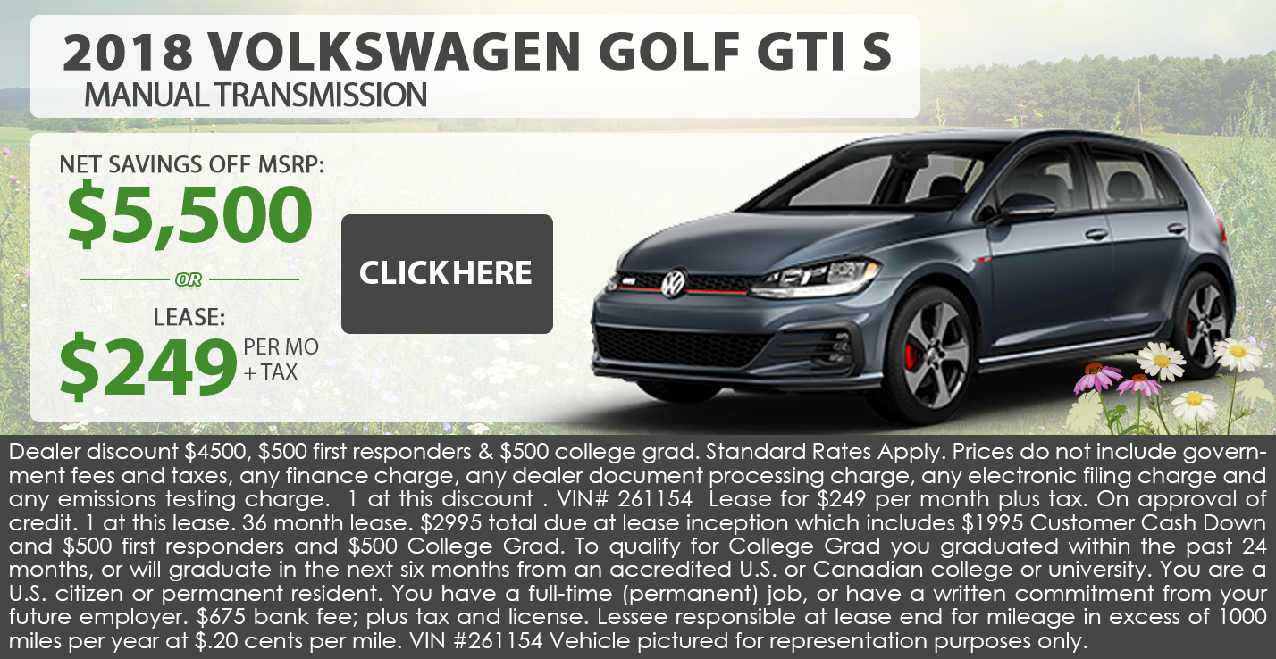 2018 Volkswagen Golf GTI S Manual Transmission