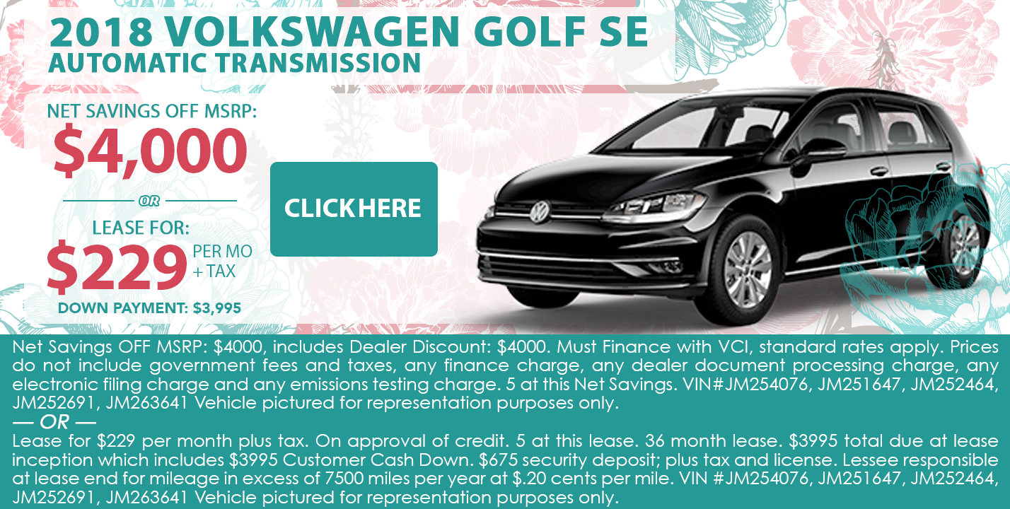 2018 Volkswagen Golf SE Automatic Transmission