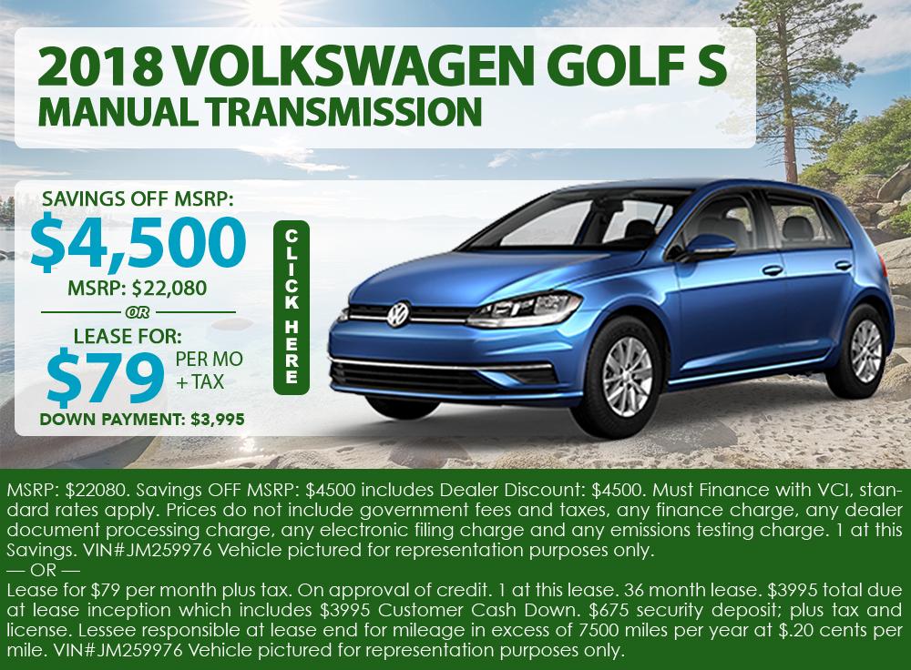 2018 Volkswagen Golf S Manual Transmission