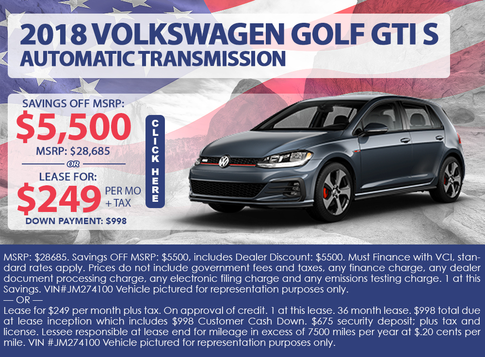 2018 Volkswagen Golf GTI S Automatic Transmission