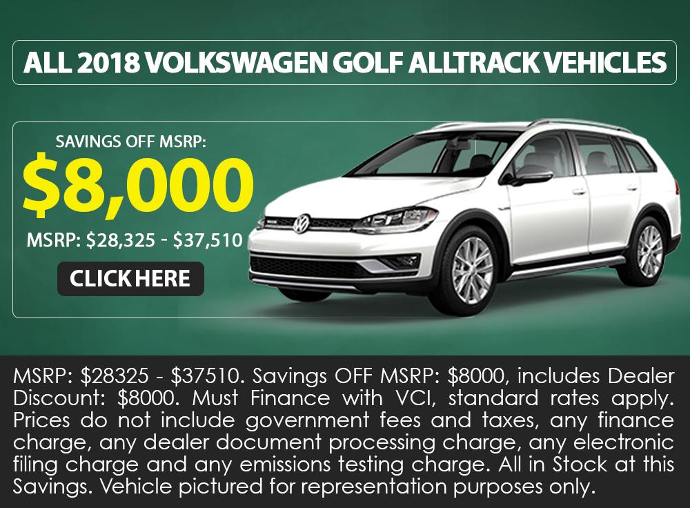All 2018 Volkswagen Golf Alltrack Vehicles