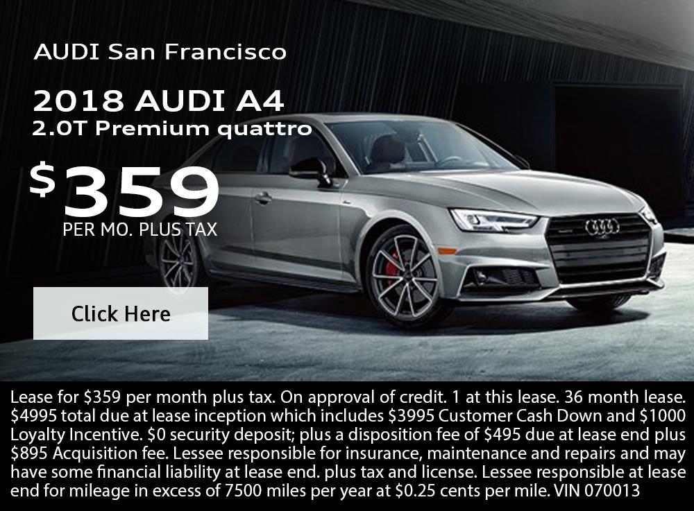 2018 Audi A4 2.0T Premium quattro