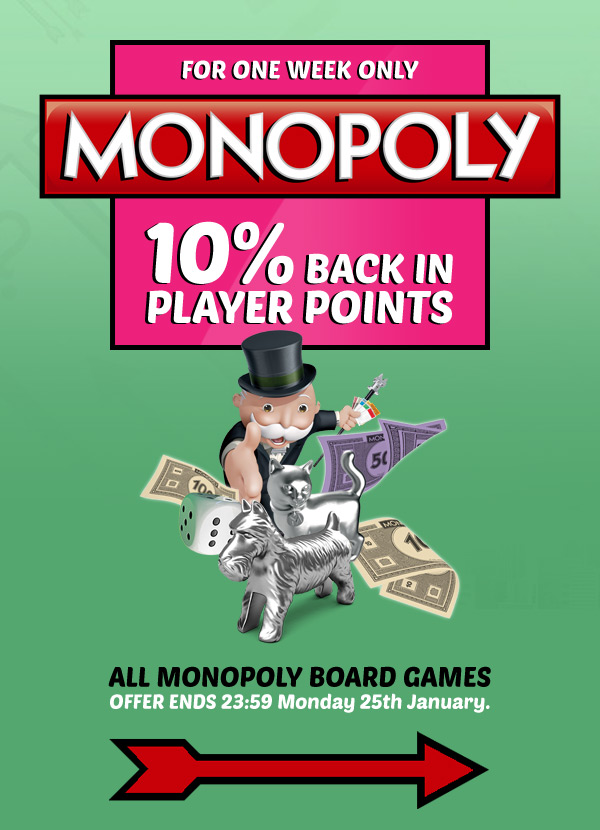 MONOPOLY Board Games 10% Back