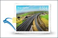 Kosovo postage stamp design by A.U.K. Multimedia Professor Agon Nimani awarded first prize