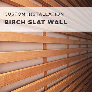 Birch Slate Wall