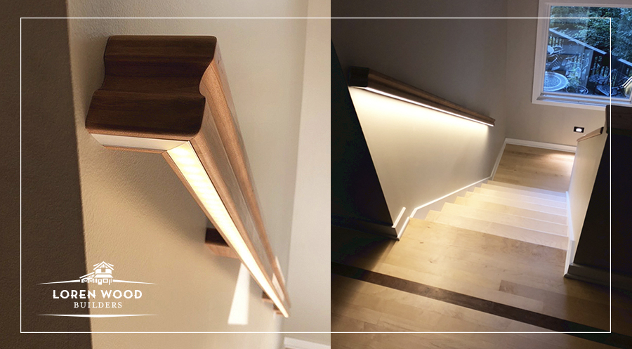 Lighted Staircase Railings