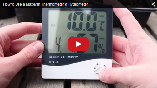 How to Use a Max/Min Thermometer & Hygrometer
