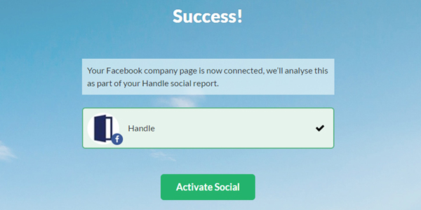 Activate Facebook on Handle